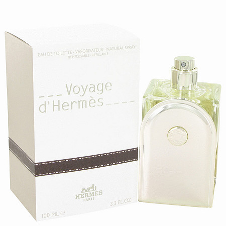 Voyage D'Hermes by Hermes for Men Eau De Toilette Spray Refillable 3.3 oz