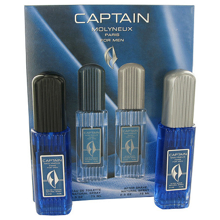 Captain by Molyneux for Men Gift Set -- 2.5 oz Eau De Toilette Spray + 2.5 oz After Shave
