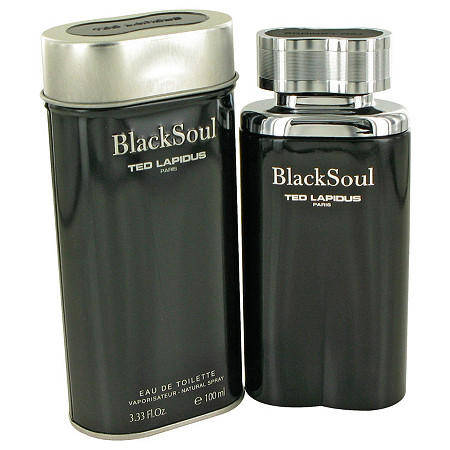 Black Soul by Ted Lapidus for Men Eau De Toilette Spray 3.4 oz
