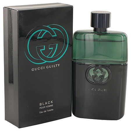 Gucci Guilty Black by Gucci for Men Eau De Toilette Spray 3 oz