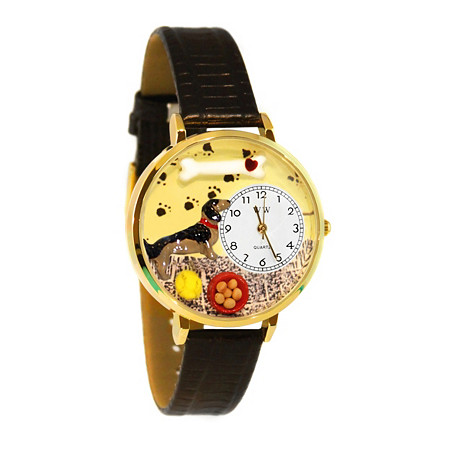 Personalized Dachshund Watch in gold or silver case