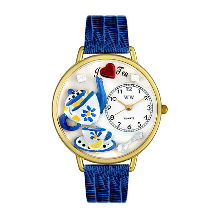 Personalized Tea Lover Watch in gold or silver case