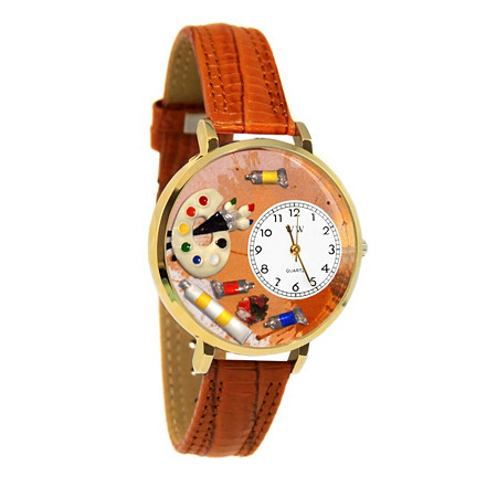 Personalized Artist Watch in gold or silver case