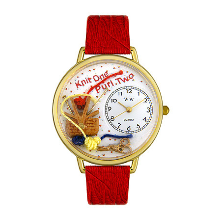 Personalized Knitting Watch in gold or silver case