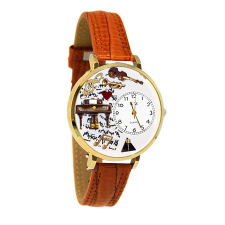 Personalized Music Piano Watch in gold or silver case