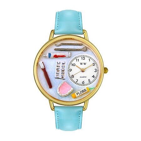 Personalized Dentist Watch in gold or silver case