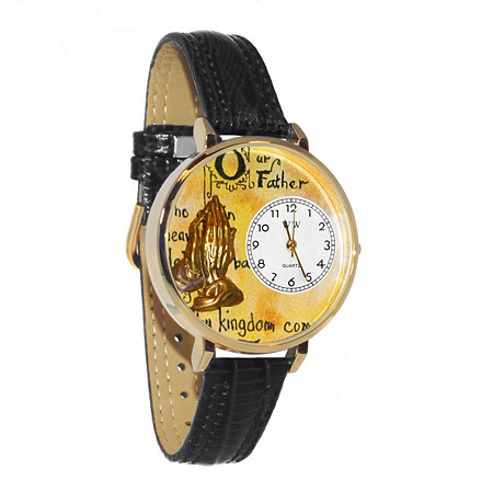 Personalized Lord's Prayer Watch in gold or silver case
