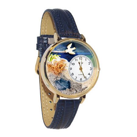 Personalized Footprints Watch in gold or silver case