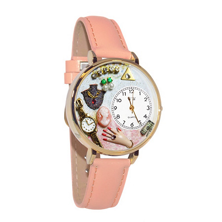 Personalized Jewelry Lover Pink Watch in gold or silver case