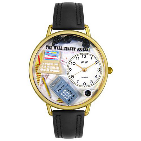 Personalized Accountant Watch in gold or silver case