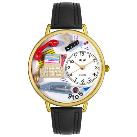 Personalized Administrative Assistant Watch in gold or silver case
