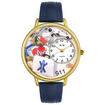 Personalized EMT Watch in gold or silver case