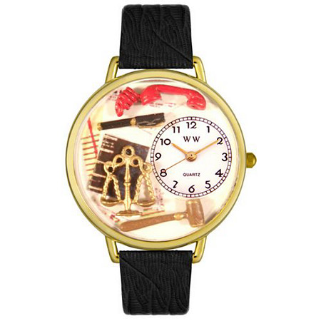 Personalized Lawyer Watch in gold or silver case