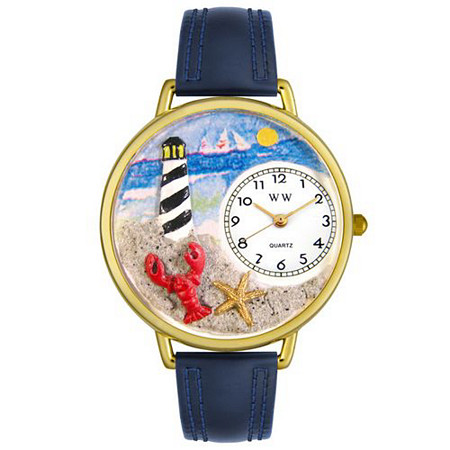 Personalized Lighthouse Watch in gold or silver case