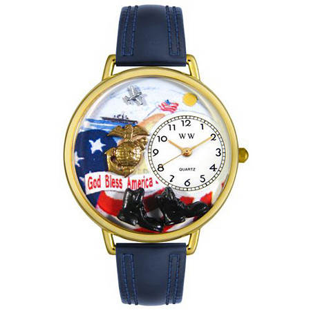 Personalized Marines Watch in gold or silver case