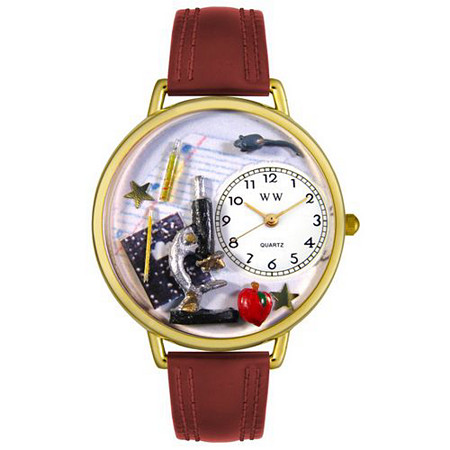 Personalized Science Teacher Watch in gold or silver case
