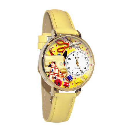 Personalized Sewing Watch in gold or silver case