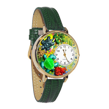 Personalized Turtles Watch in gold or silver case