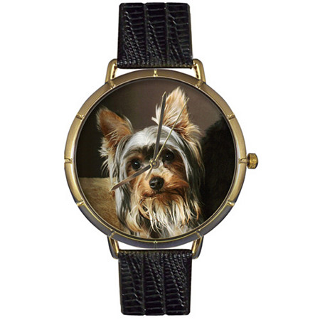 Yorkie Photo Watch in Gold Unisex