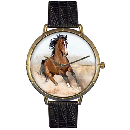 Arabian Horse Photo Watch in Gold Unisex