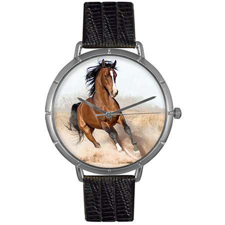 Arabian Horse Photo Watch in Silver Unisex