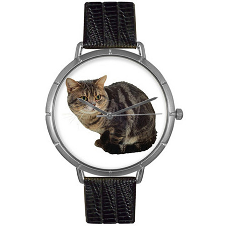 American Shorthair Cat Photo Watch in Silver Unisex