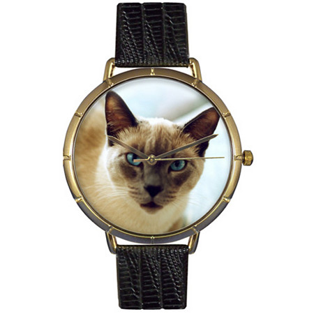 Siamese Cat Photo Watch in Gold Unisex