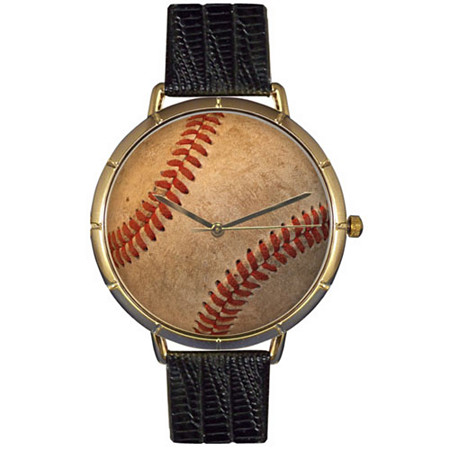 Baseball Lover Photo Watch Unisex Gold Style