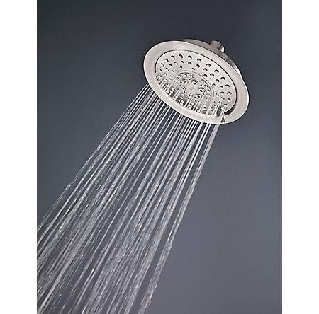 Brushed Nickel Pfister 5-Function Raincan Showerhead - 015-TD1K - 4