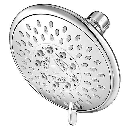 Polished Chrome Universal 5-Function Raincan Showerhead, Trim Only - 015-TN1C - 1
