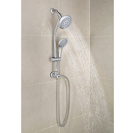 Polished Chrome Pfister 3-Function Handheld Shower - 016-HH10C - 2