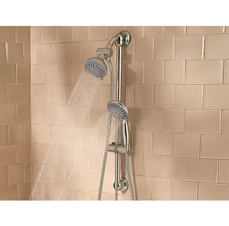 Brushed Nickel Handheld Showers - 016-HH3K - 2