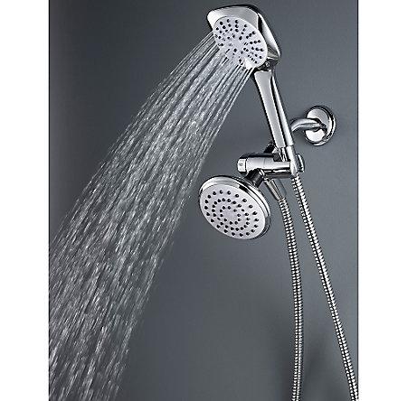 Polished Chrome Kaylon Handshower and Showerhead Combo - 020-WHCH - 5