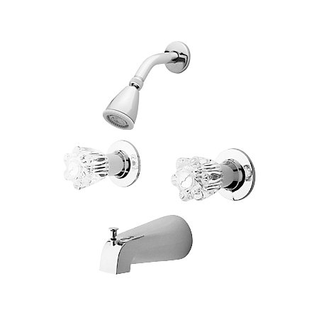 Polished Chrome Tub & Shower Combo - 03-618 - 1