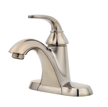 Brushed Nickel Pasadena Single Control, Centerset Bath Faucet - F-042-PDKK - 1