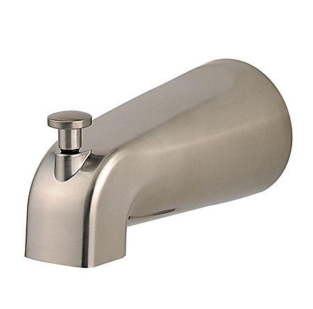 Brushed Nickel Pfirst Series Standard Tub Spouts - 115-250J - 1