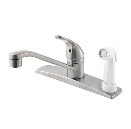 Stainless Steel Pfirst Series 1-Handle Kitchen Faucet - 134-344S - 1
