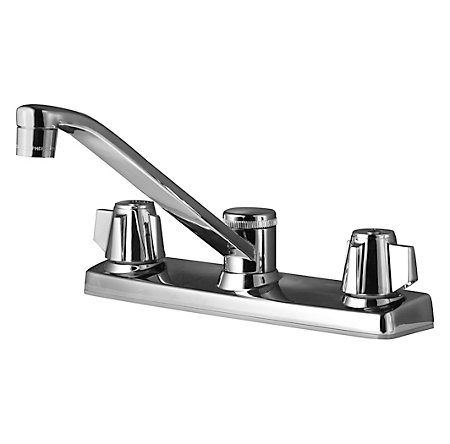 Polished Chrome Pfirst Series 2-Handle Kitchen Faucet - 135-2000 - 1