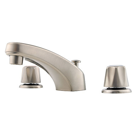 Brushed Nickel Pfirst Series Widespread Bath Faucet - 149-600K - 1