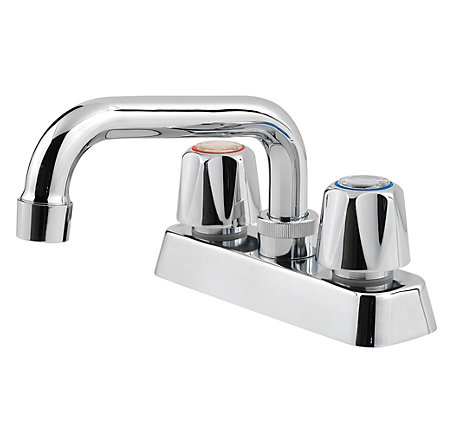 Polished Chrome Pfirst Series Utility/Laundry Kitchen Faucet - 171-1000 - 1