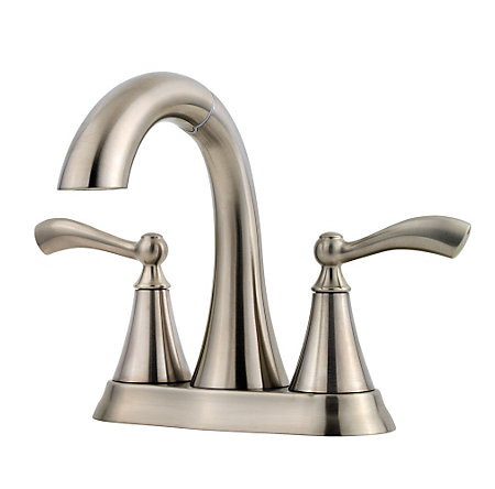 Brushed Nickel Grandeur Centerset Bath Faucet - F-548-GDKK - 1