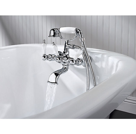 Polished Chrome Savannah 3-Handle Tub with Handshower - 801-SVHC - 2