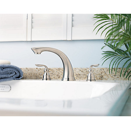 Brushed Nickel Avalon 3-Hole Roman Tub, Complete With Valve - 806-CB0K - 5
