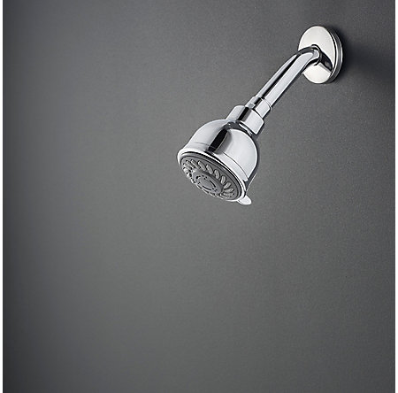 Polished Chrome Bedford 2-Handle Shower, Complete with Valve - 807-WS-BDCC - 2
