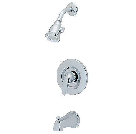 Polished Chrome Parisa 1-Handle Tub & Shower, Complete with Valve - 808-7BAC - 1