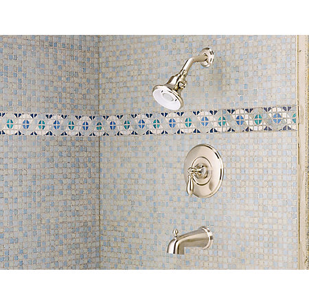 Brushed Nickel Catalina Tub & Shower Combo - 808-E0BK - 2