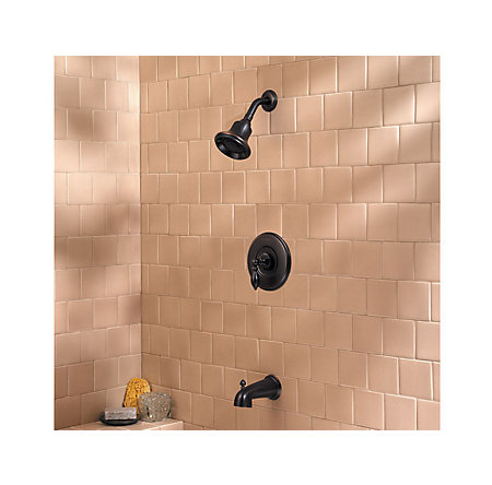 Tuscan Bronze Catalina 1-Handle Tub & Shower, Complete with Valve - 808-E0BY - 2