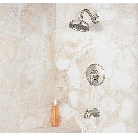 Brushed Nickel Marielle Tub & Shower Combo - 808-M0BK - 2