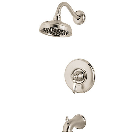 Brushed Nickel Marielle Tub & Shower Combo - 808-M0BK - 1