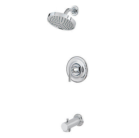 Polished Chrome Contempra Tub & Shower Combo - 808-NC10 - 1
